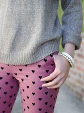 jeans,pink,heart,black,polka dots
