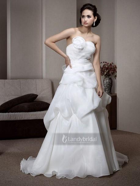 dress ウェディングドレス aライン オーガンジー