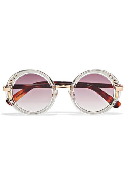 Jimmy Choo embellished sunglasses gold purple