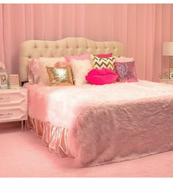 Home Accessory Bedding Pink Pink Room Pillow Pink