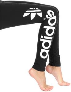 Adidas trefoil w leggings zwart