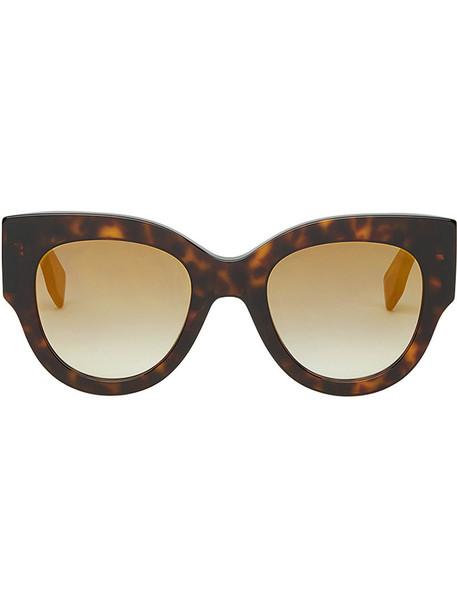 women plastic sunglasses brown