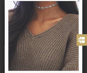 jewels metallic choker necklace