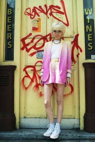 stella's wardrobe blogger 80s style pink ombre