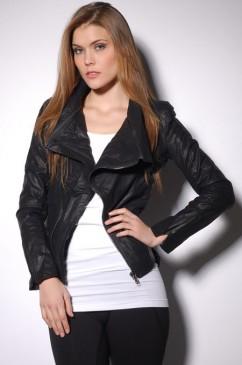 High neck padded shoulder jacket lj5054 by akira