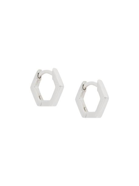 Astley Clarke mini women earrings hoop earrings silver grey metallic jewels