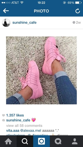 shoes pink shoes adidas shoes pastel sneakers
