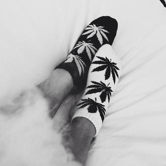 socks black white weed weed socks marijuana socks