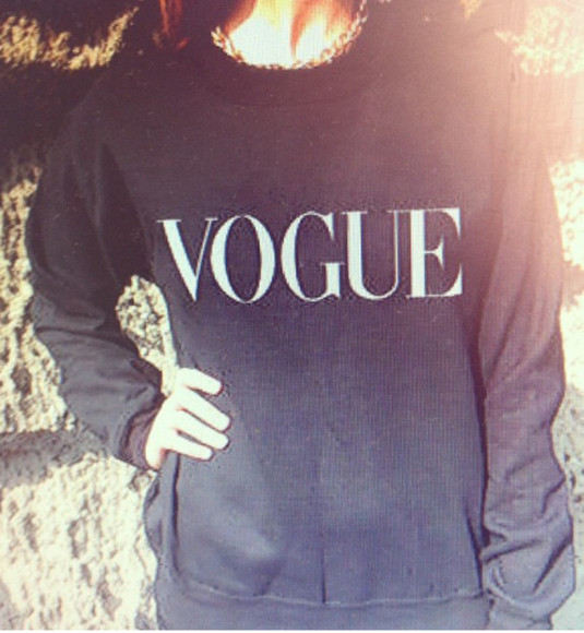 sweater black sweater vogue sweater vogue