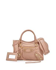 Balenciaga Metallic Edge Mini City AJ Satchel Bag