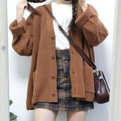 cardigan,aesthetic,cute,lovely,cardian,brown,vintage,tumblr,nice,outfit