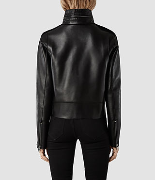 Womens Elswick Leather Jacket (Black/Black) | ALLSAINTS.com