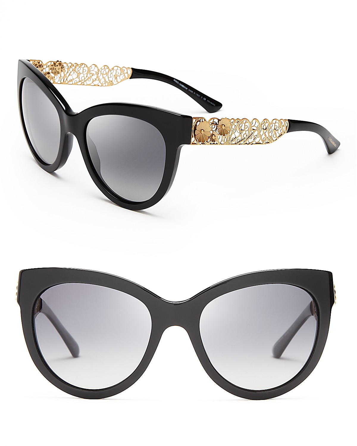 Dolce&Gabbana Polarized Cat Eye Floral Filigree Sunglasses | Bloomingdale's