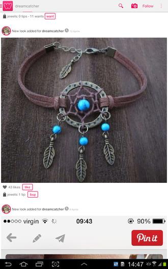 jewels dreamcatcher dreamcatcher bracelet dreamcatcher necklace helix piercing small jewelry dainty