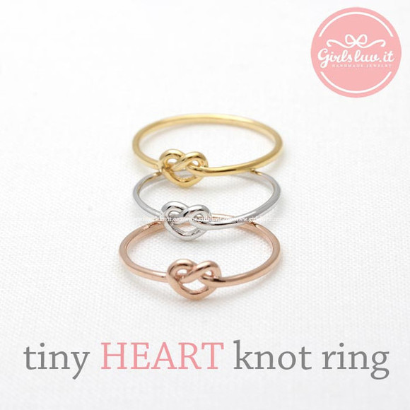jewels heart ring jewelry heart love heart knot ring valentines day forever