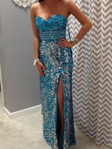 dress blue dress prom dress 2014 prom dresses sparkles helpmefindthis