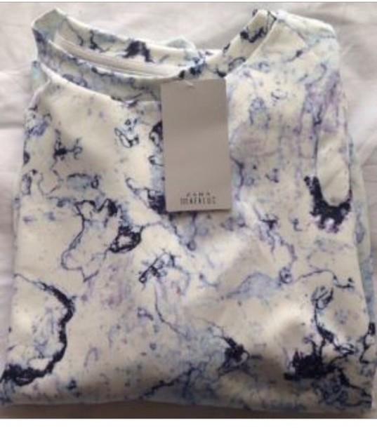 shirt marble style fashion