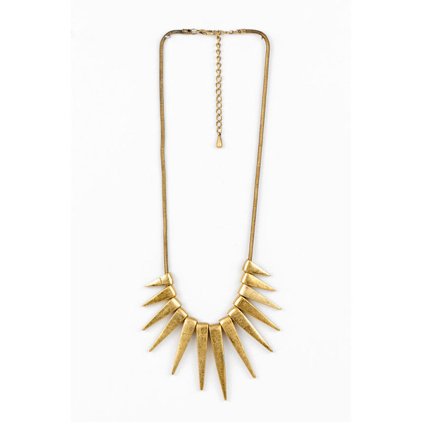 Spiked Necklace Ana Accessories Polyvore