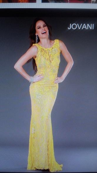 lace dress long dress yellow dress sexy dress sleeveless dress