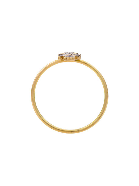 LOQUET women ring gold grey metallic jewels