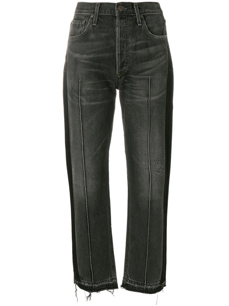 CITIZENS OF HUMANITY jeans cropped women cotton black