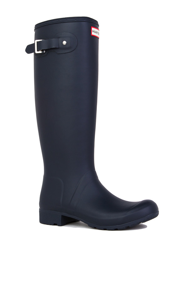 hunter original tour rain boots in navy matte