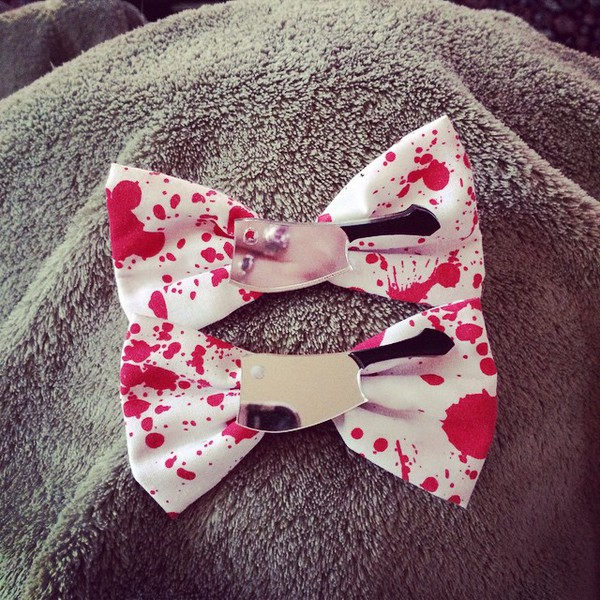 jewels cute bow horror bows sweet halloween