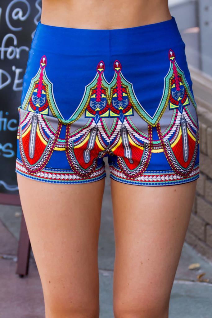 Hartu tribal high waist short – luv mint