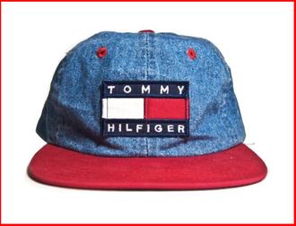 colorblock retro vintage denim jeans grunge multi colored tommyjeans tommy jeans tommy hilfiger tommyhilfiger snapback snapback hat snap back hiphop baseball cap cap hat 90s style embroidered 90sgrunge streetwear street clothing street fashion streetstyle 5-panel cap rare eyelet eyelets