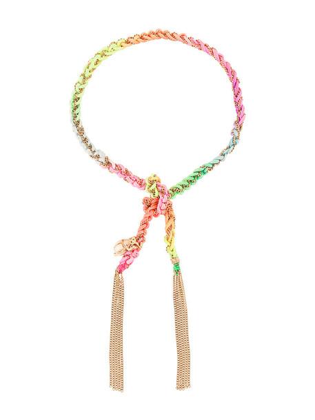 Carolina Bucci braided bracelet rose gold rose women braided gold silk grey metallic jewels