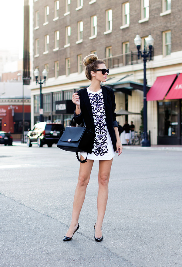 sunglasses jacket dress bag shoes