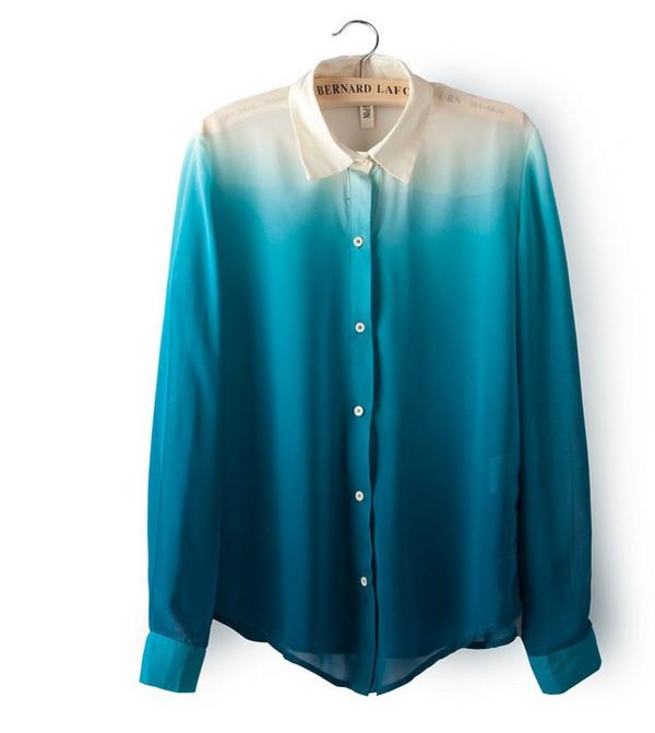 blouse ombre ombre shirt