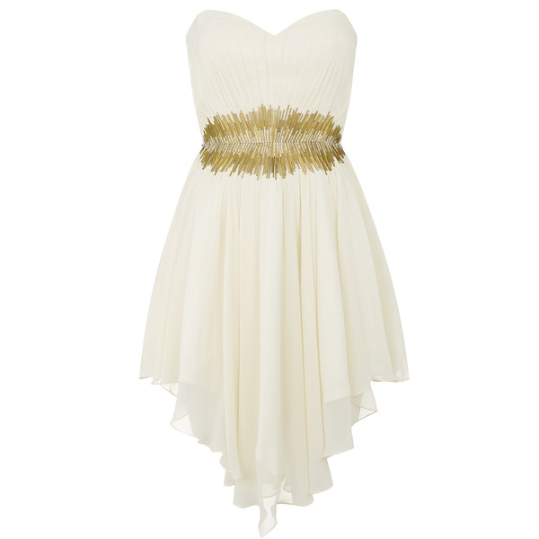 Cream Chiffon Prom Dress - Polyvore