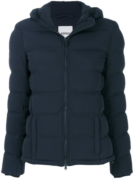 jacket puffer jacket women spandex blue