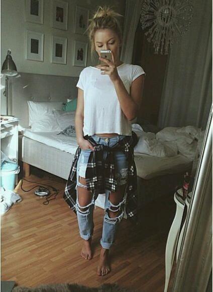 jeans simple shirt t-shirt white plain shirt