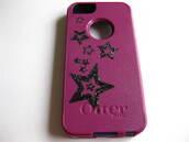 bag,iphone cover,iphone case,iphone 5 case,stars and stripes,punk,dark purple,glitter,bling,sale,etsy sale,cute,phone cover
