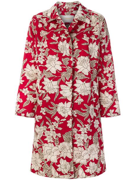 La DoubleJ coat women floral print red