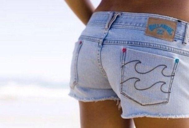 Billabong ripped denim shorts