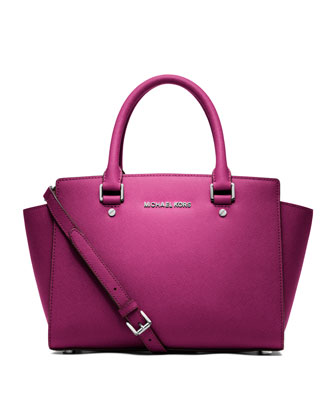 MICHAEL Michael Kors  Medium Selma Top-Zip Satchel - Neiman Marcus