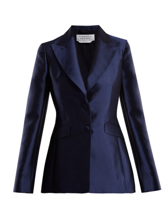 blazer silk navy jacket