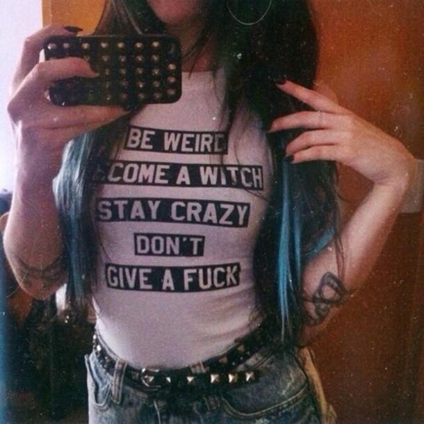 t-shirt grunge witch top weird weirdo