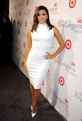 dress white white dress eva longoria pumps turtleneck dress bodycon dress midi dress white dres bodycon party dress sexy party dresses celebrity celebrity style celebstyle for less red carpet red carpet dress sexy sexy dress party outfits sexy outfit summer dress summer outfits spring dress spring outfits turtleneck classy dress elegant dress cocktail dress cute dress girly dress date outfit birthday dress clubwear club dress graduation dress prom dress homecoming homecoming dress wedding dress wedding guest wedding clothes engagement party dress romantic dress
