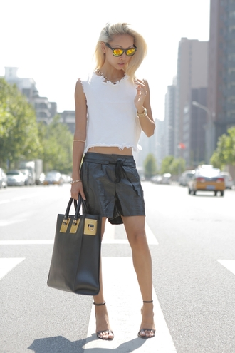 the haute pursuit shirt shorts shoes bag sunglasses