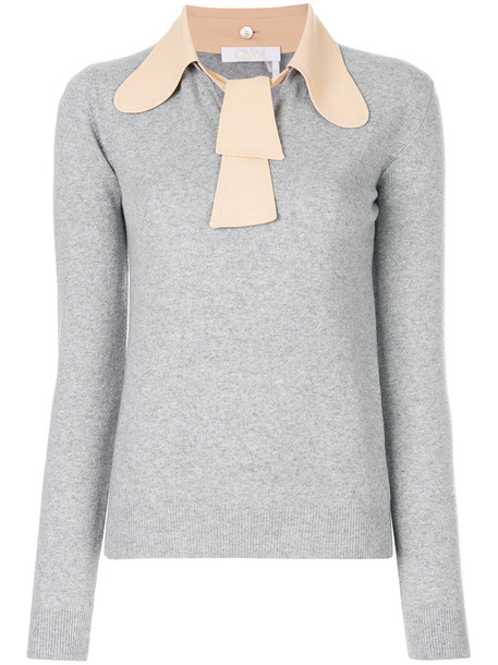 Chloe top knitted top women wool grey