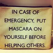 bag,in case of emergency,make-up,makeup bag,tan,mascara,california girl beauty
