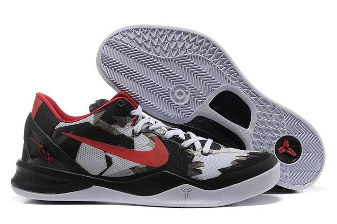 Kobe VIII (8) Black White Red Nike Women's Size Shoes