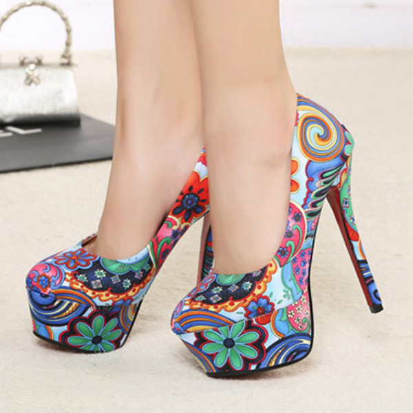 shoes heel shoe colorful sweet