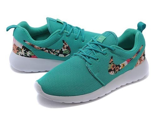 nike roshe run blumen print running schuhe herren damen. Black Bedroom Furniture Sets. Home Design Ideas