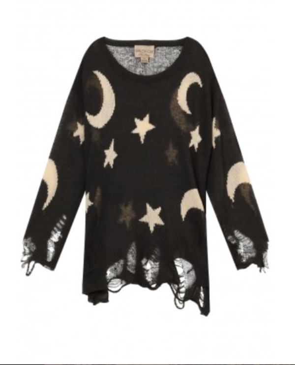 moons and stars moon moon stars stars grunge ripped shredded see through dark goth goth