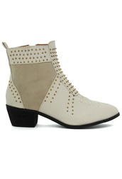 shoes,ivory,stacked,heel,studded,bootie